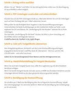 creditplus anleitung